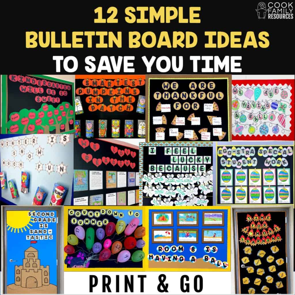 12 Simple Bulletin Board Ideas To Save You Time Cook Family Resources