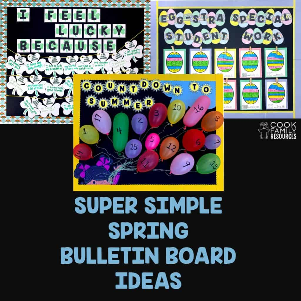 How To Keep Your Spring Bulletin Boards Simple Cook Family Resources